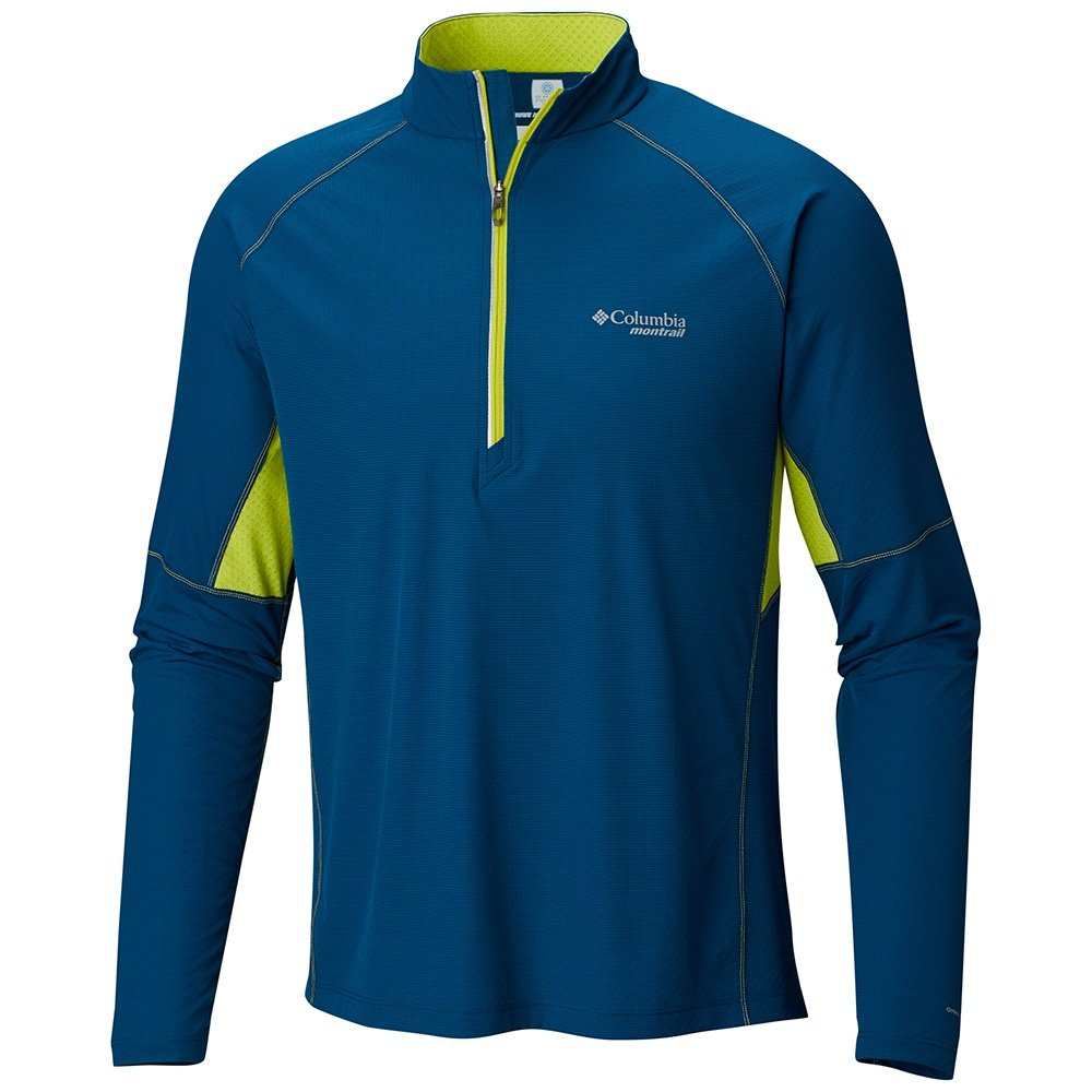 Montrail by Columbia Titan Ultra Half-Zip Running Shirt (Men's) - Phoenix Blue