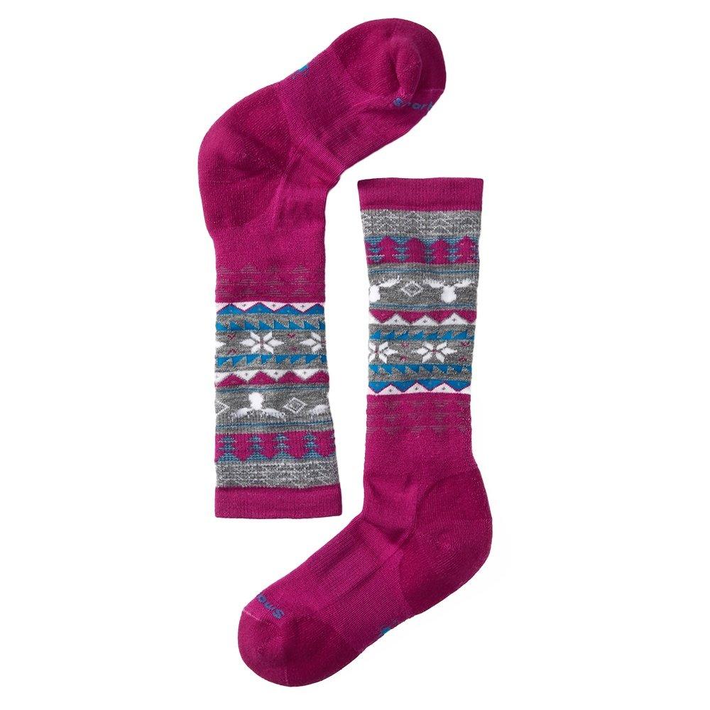 SmartWool Wintersport Fairisle Ski Sock (Kids') - Berry
