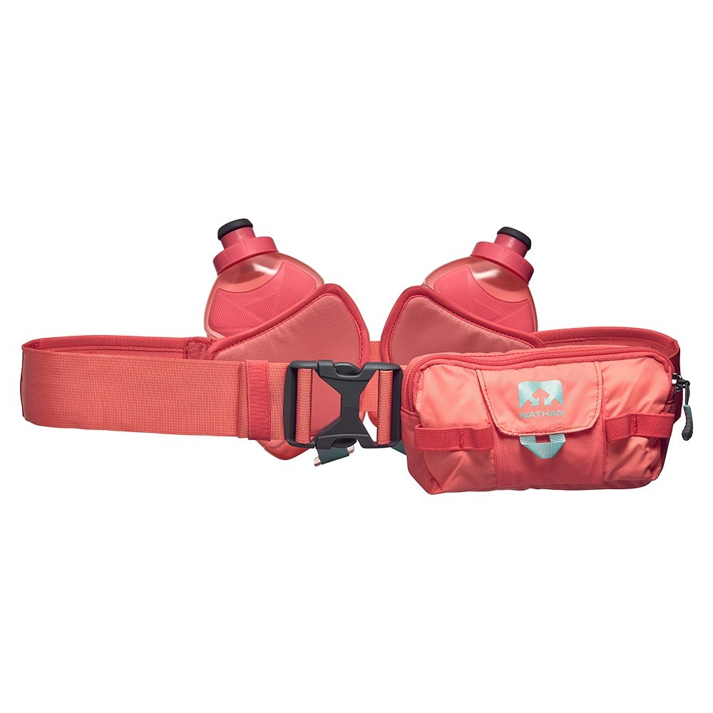 Nathan Switchblade 24oz Hydration Belt - Fusion Coral