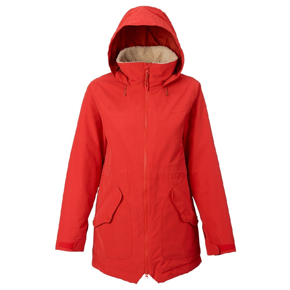 Burton Prowess Insulated Snowboard Jacket (Women's) - Firey Red Sueded