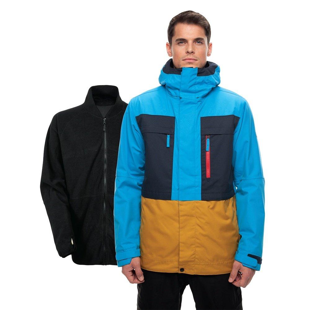 686 Smarty 3-in-1 Form Snowboard Jacket (Men's) - Bluebird Twill Colorblock