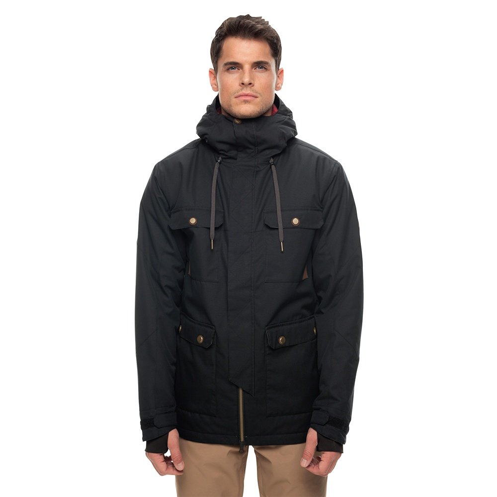 686 Cult Insulated Snowboard Jacket (Men's) - Black Dobby