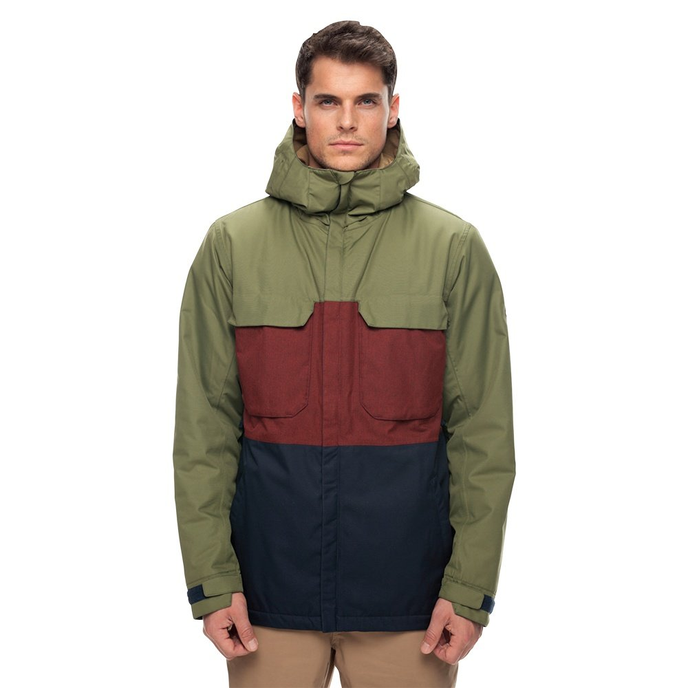 686 Moniker Insulated Snowboard Jacket (Men's) - Fatigue Colorblock