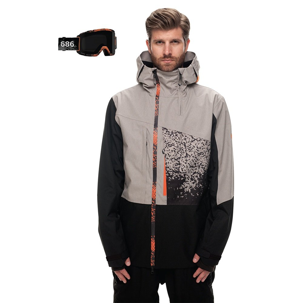 686 Smith Squad Snowboard Jacket (Men's) - Light Grey