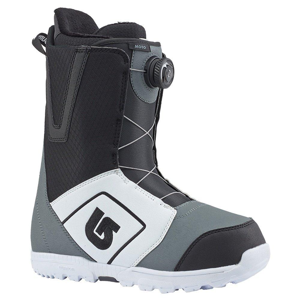 Burton Moto Boa Snowboard Boot (Men's) - White/Black/Gray
