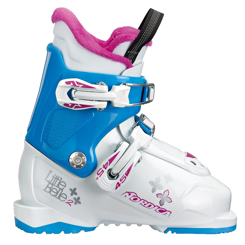 Nordica Little Belle 2 Ski Boot (Kids') - White/Light Blue