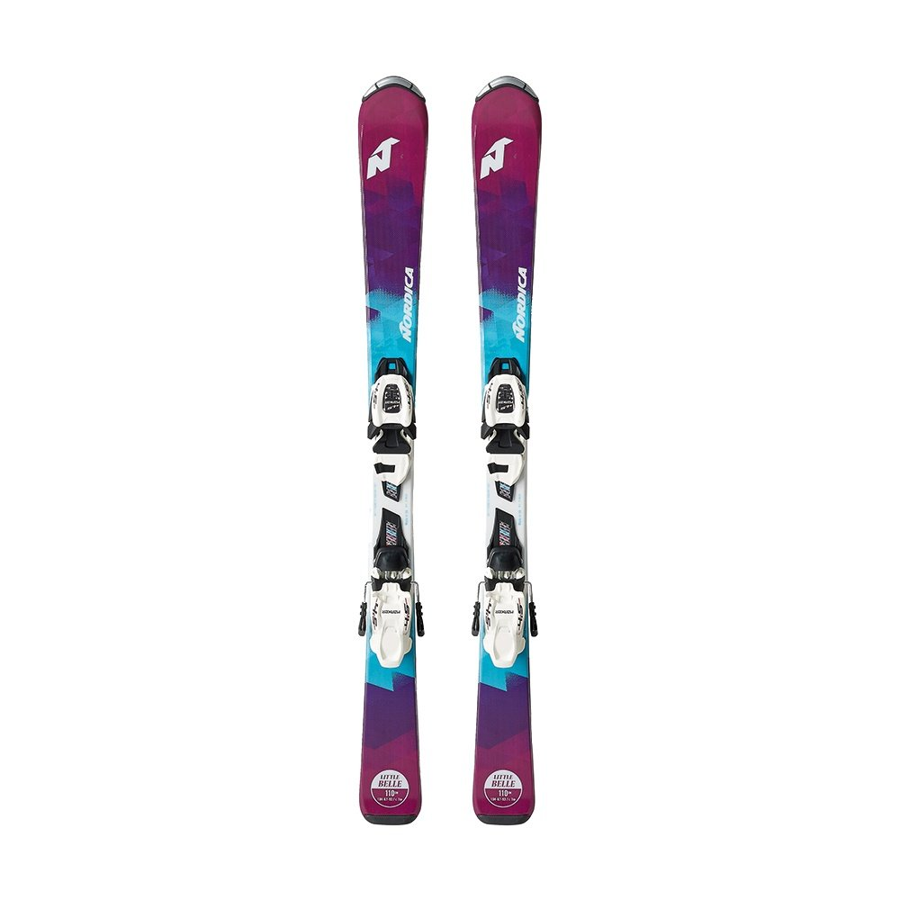 Nordica Little Belle Team Skis with 4.5 FDT Bindings (Kids') -