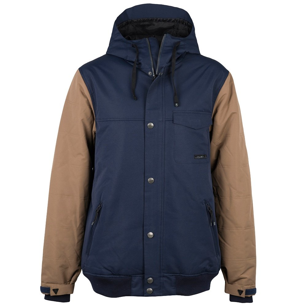 Liquid Rave Insulated Snowboard Jacket (Men's) - Navy/Kangaroo
