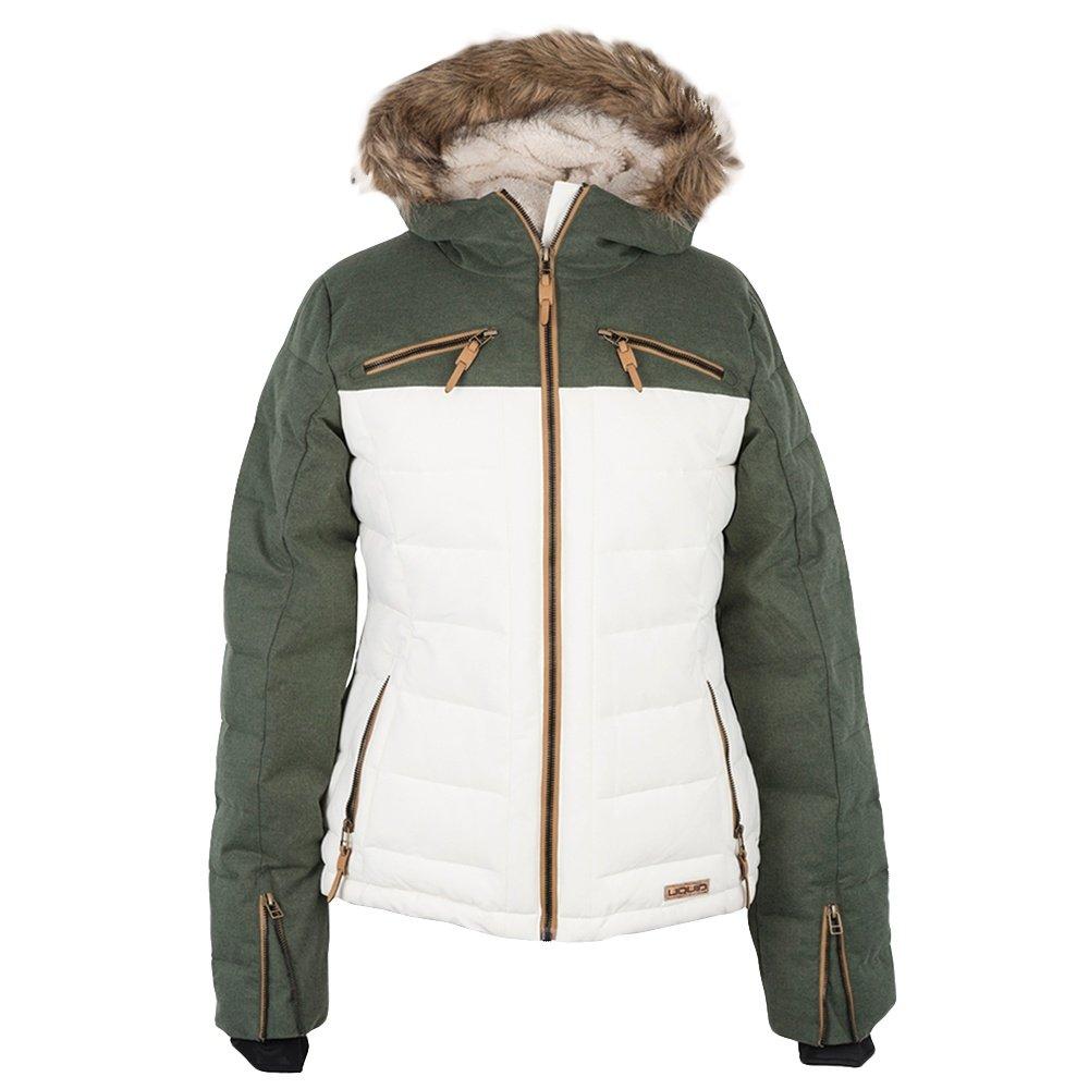 Liquid Pizzazz Insulated Snowboard Jacket (Women's) - Conifer/Marshmellow