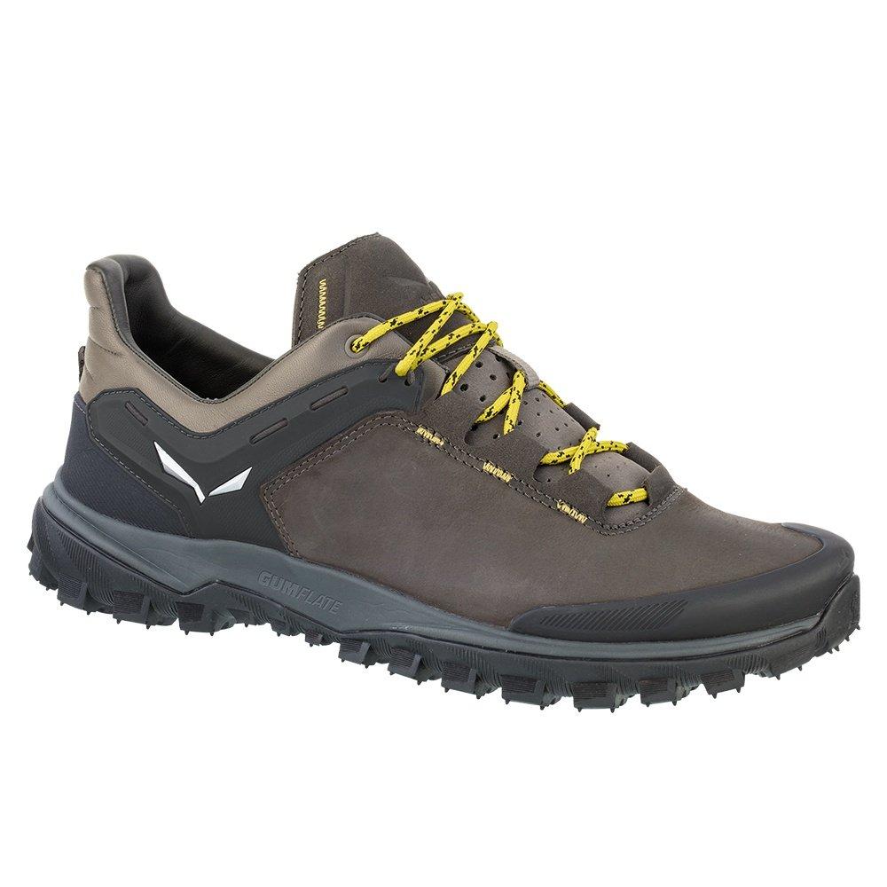Salewa Wanderer Hiker Leather Shoe (Men's) - Black Olive/Bergot