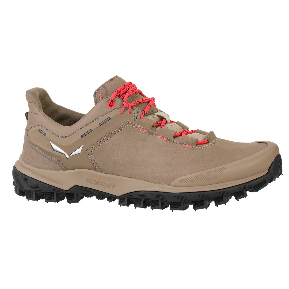 Salewa Wanderer Hiker Leather Shoe (Women's) - Other Nut/Hot Coral