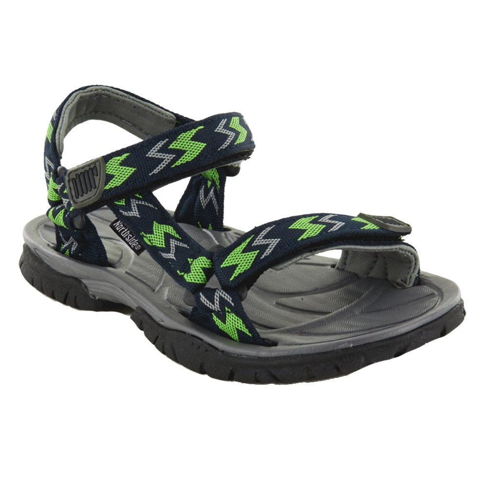 Northside Seaview Sport Sandale (Little Girls') - Navy/Lime