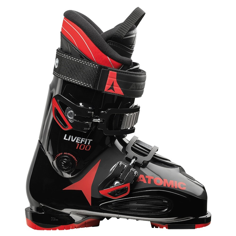Atomic Live Fit 100 Ski Boot (Men's) - Black/Anthracite/Red