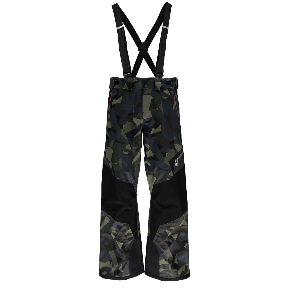Spyder Turret Shell Ski Pant (Men's) - Camo Guard/Black