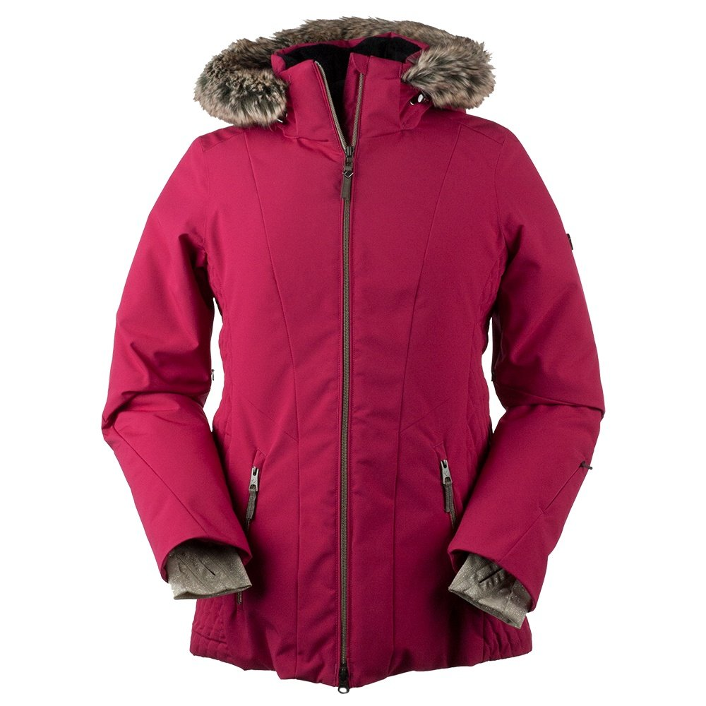 Obermeyer Siren Faux Fur Insulated Ski Jacket (Women's) - Sangria