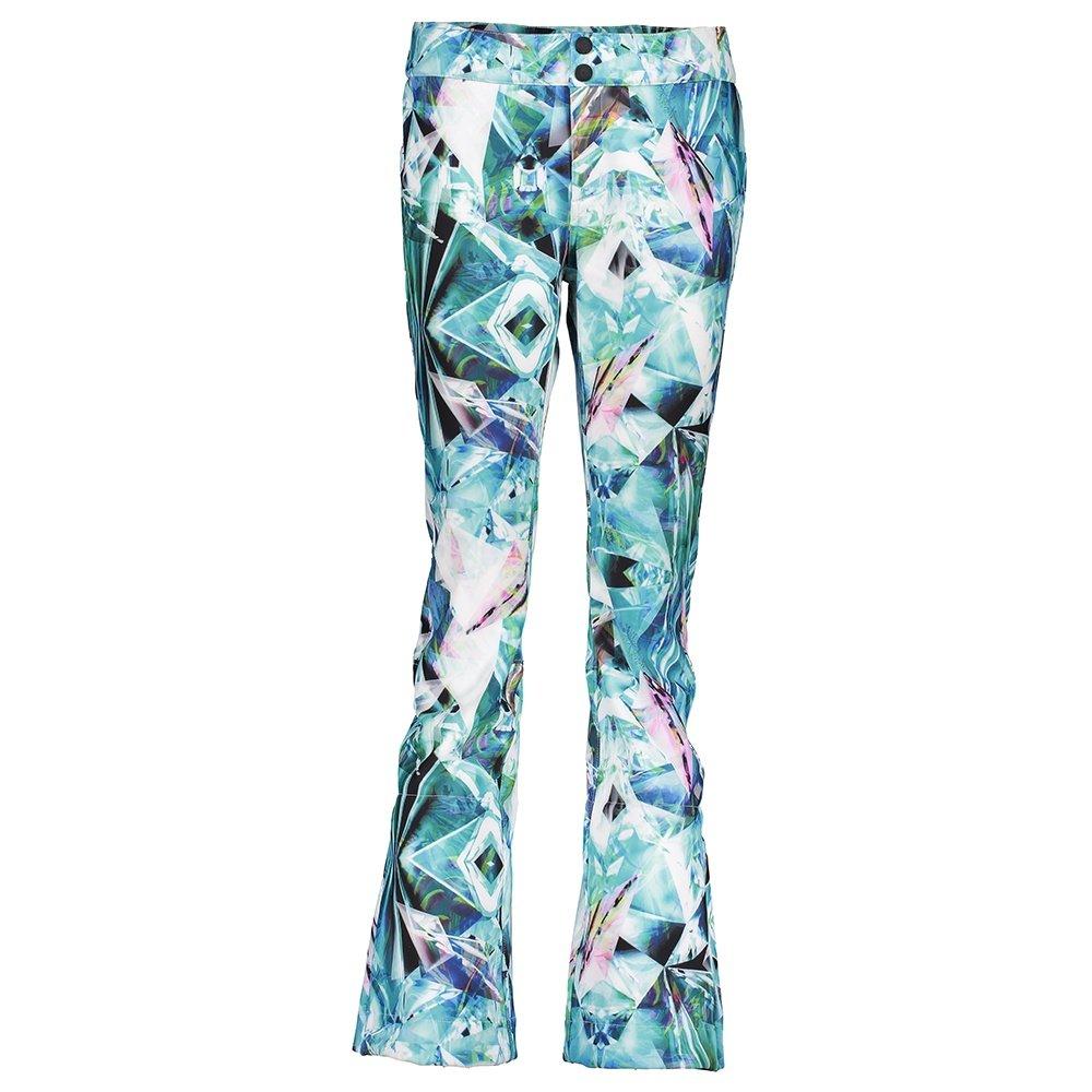 Obermeyer Printed Bond Softshell Ski Pant (Women's) - Aqua Aura
