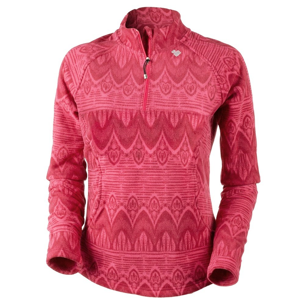 Obermeyer Siena Fleece Mid-Layer Top (Women's) - Alpine Rose Artisan Print