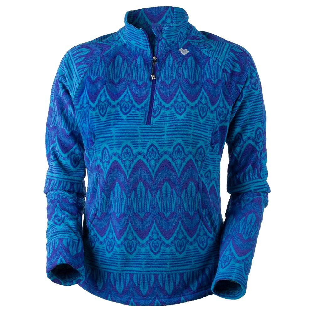 Obermeyer Siena Fleece Mid-Layer Top (Women's) - Polar Blue Artisan Print
