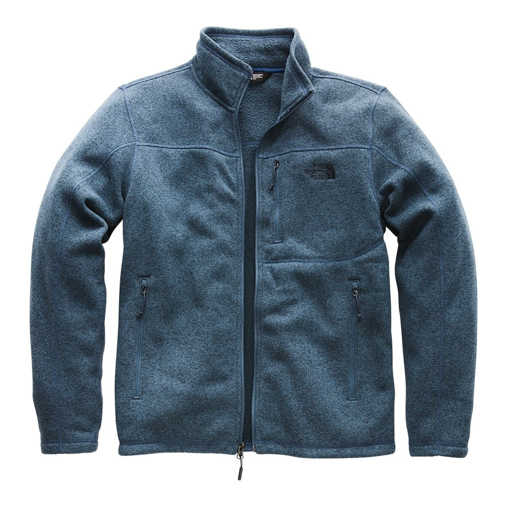 0e7e0c783f12 The North Face Gordon Lyons Full Zip Fleece Jacket (Men s) - Shady Blue  Heather