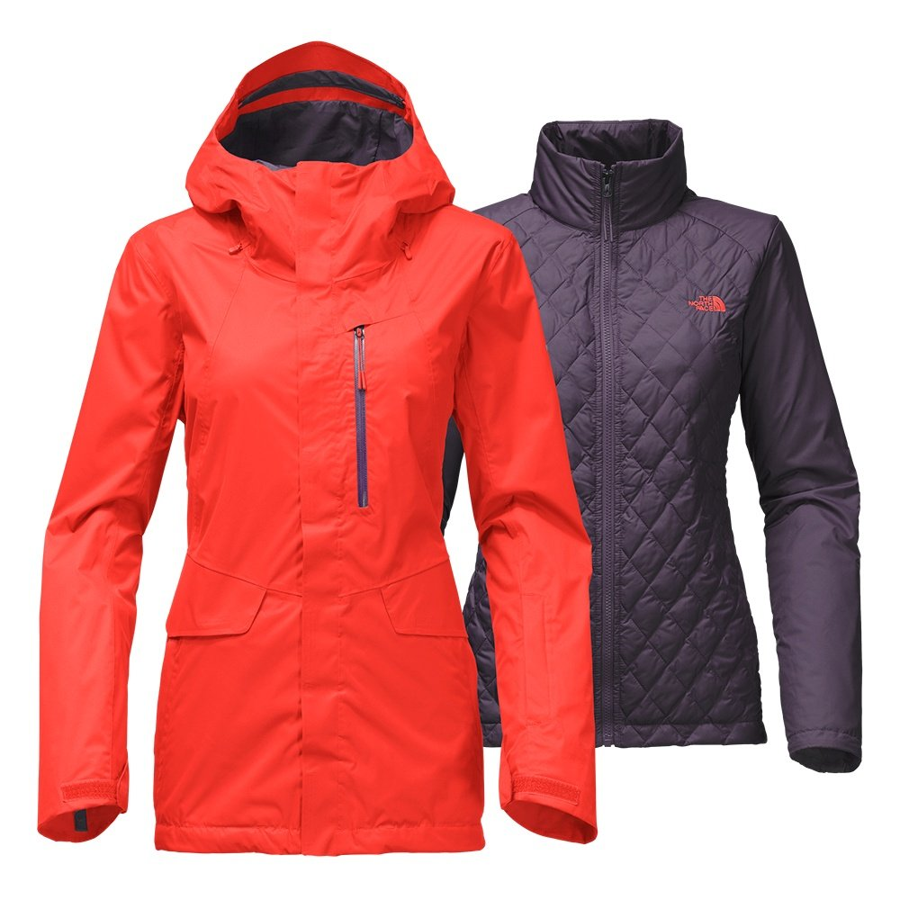 The North Face Thermoball Snow Triclimate Ski Jacket (Women's) - Fire Brick Red