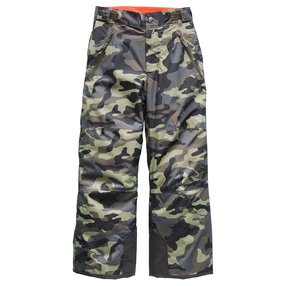 The North Face Freedom Insulated Ski Pant (Boys') - New Taupe Green Camo Print