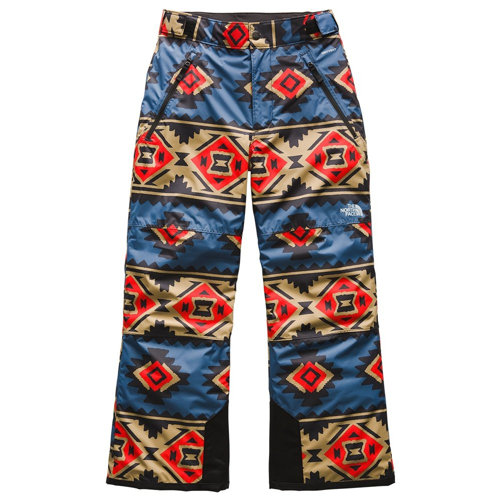 The North Face Freedom Insulated Ski Pant (Boys') - Fiery Red Tribal Print