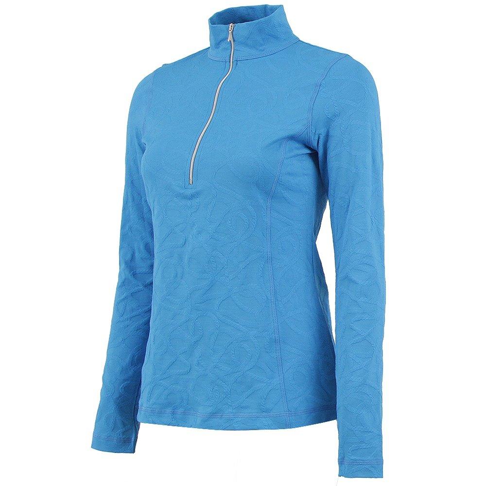 Sno Skins Braided Sport Jacquard 1/4-Zip Turtleneck (Women's) -