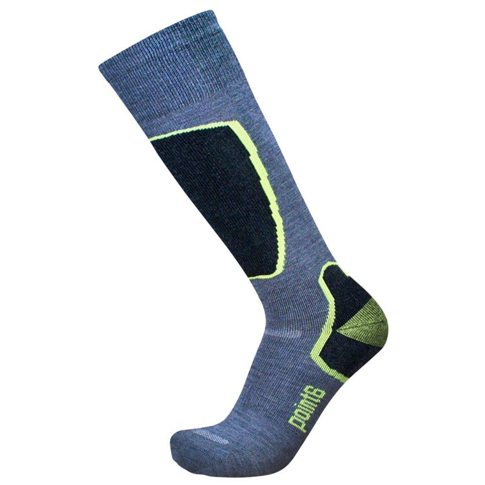 Point 6 Ski Pro Light Sock (Men's) - Grey/Lime