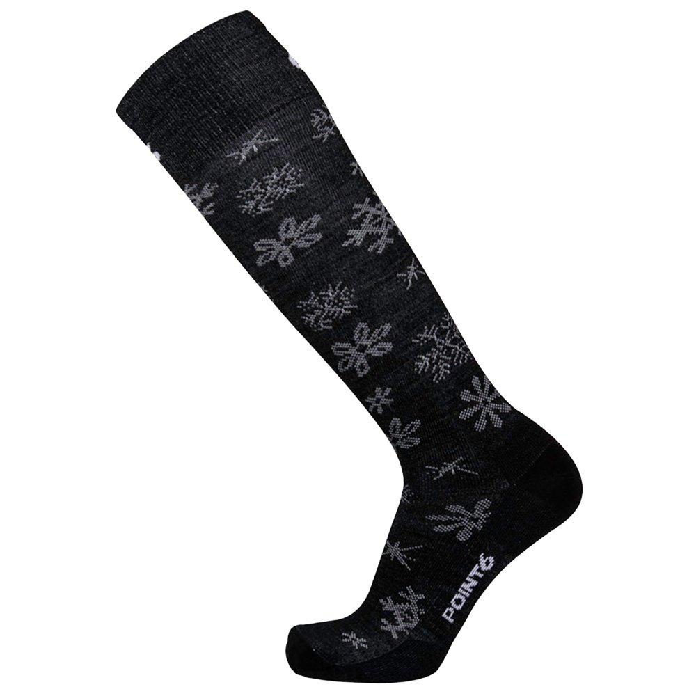 Point 6 Ski Blizzard Ultralight Ski Sock (Women's) - Black/White