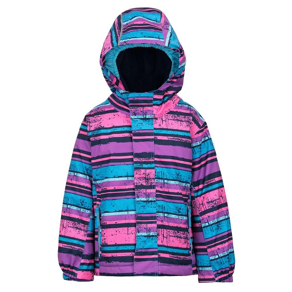 Killtec Stripy Mini Jacket (Little Girls') - Neon Pink
