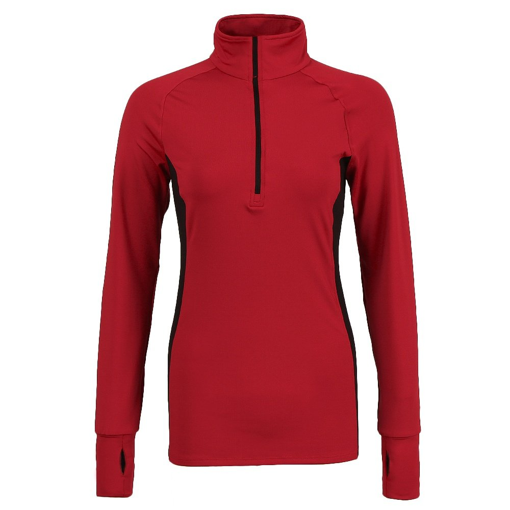 Snow Angel Two-Tone Universal Zip T Mid-Layer (Women's) - Poppy Red