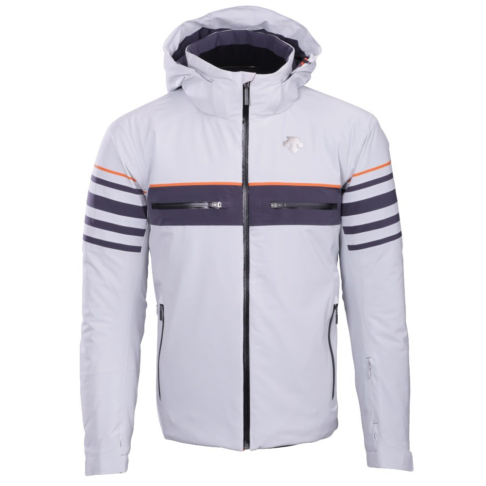 Descente Editor Ski Jacket (Men's) - Moonstone Gray/Anthracite Gray/Blaze Orange