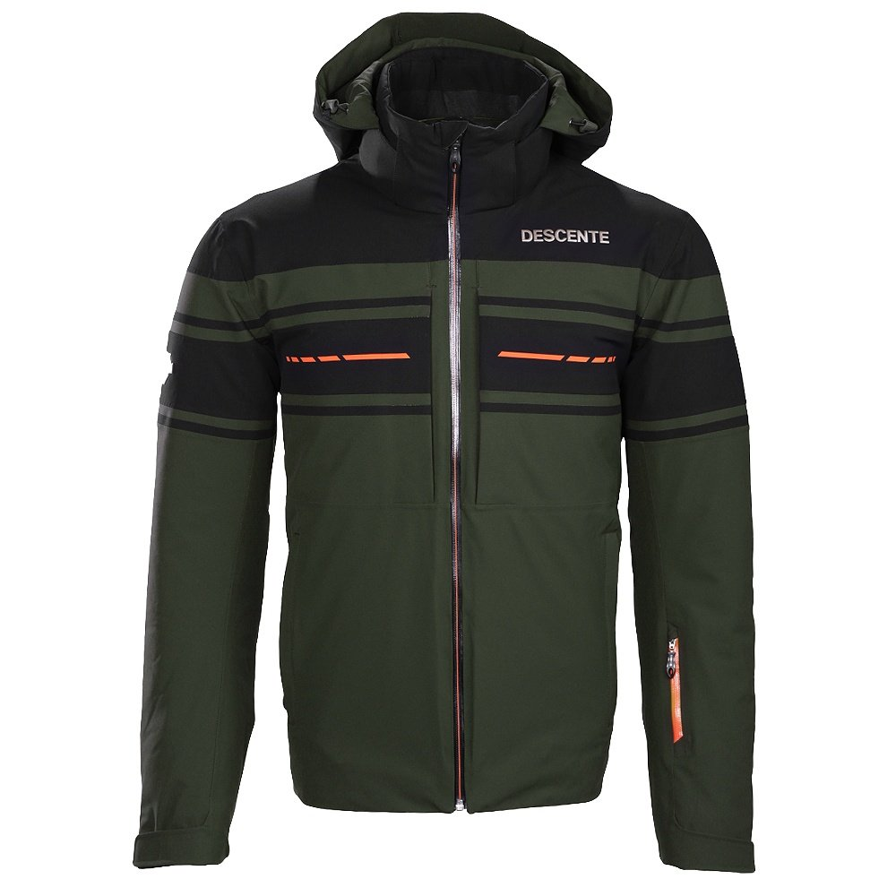 Descente Canada Ski Cross GD Ski Jacket (Men's) - Winter Moss/Black/Blaze Orange