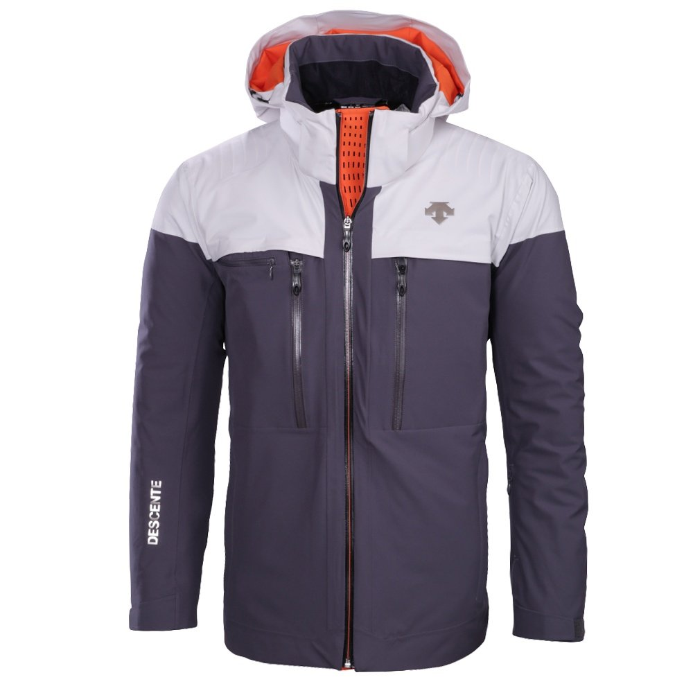 Descente Cypher Ski Jacket (Men's) - Anthracite Gray/Moonstone Gray/Blaze Orange