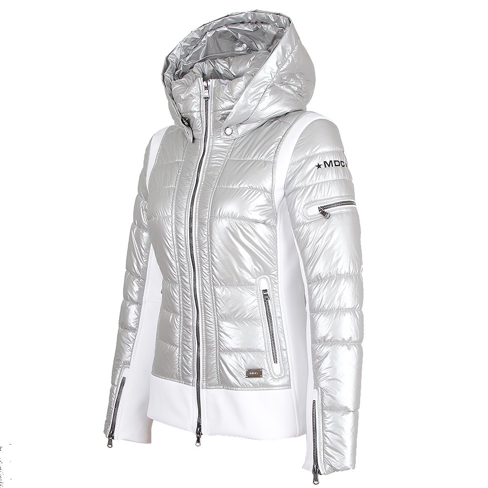 MDC Color Blocked Jacket (Women's) - Shiny Silver/White