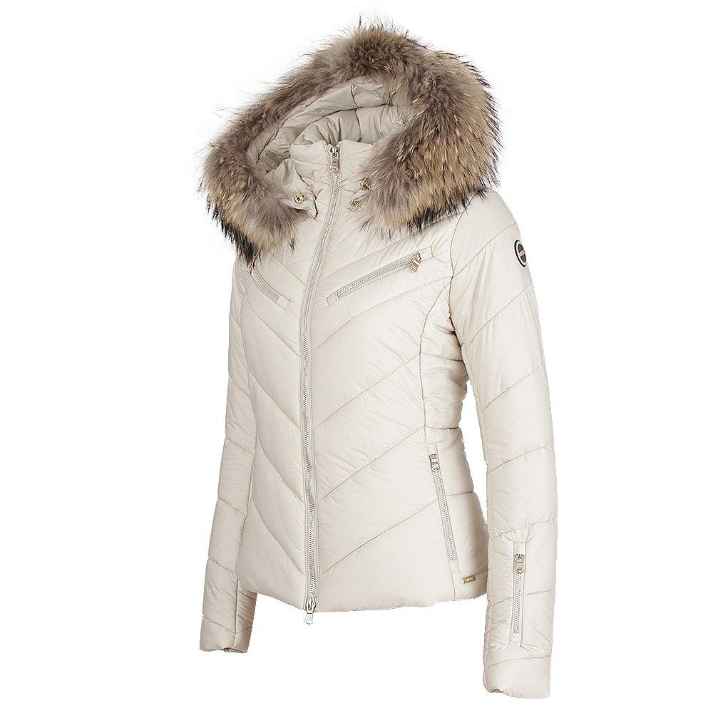 MDC Chevron Ski Jacket with Fur (Women's) - Light Taupe