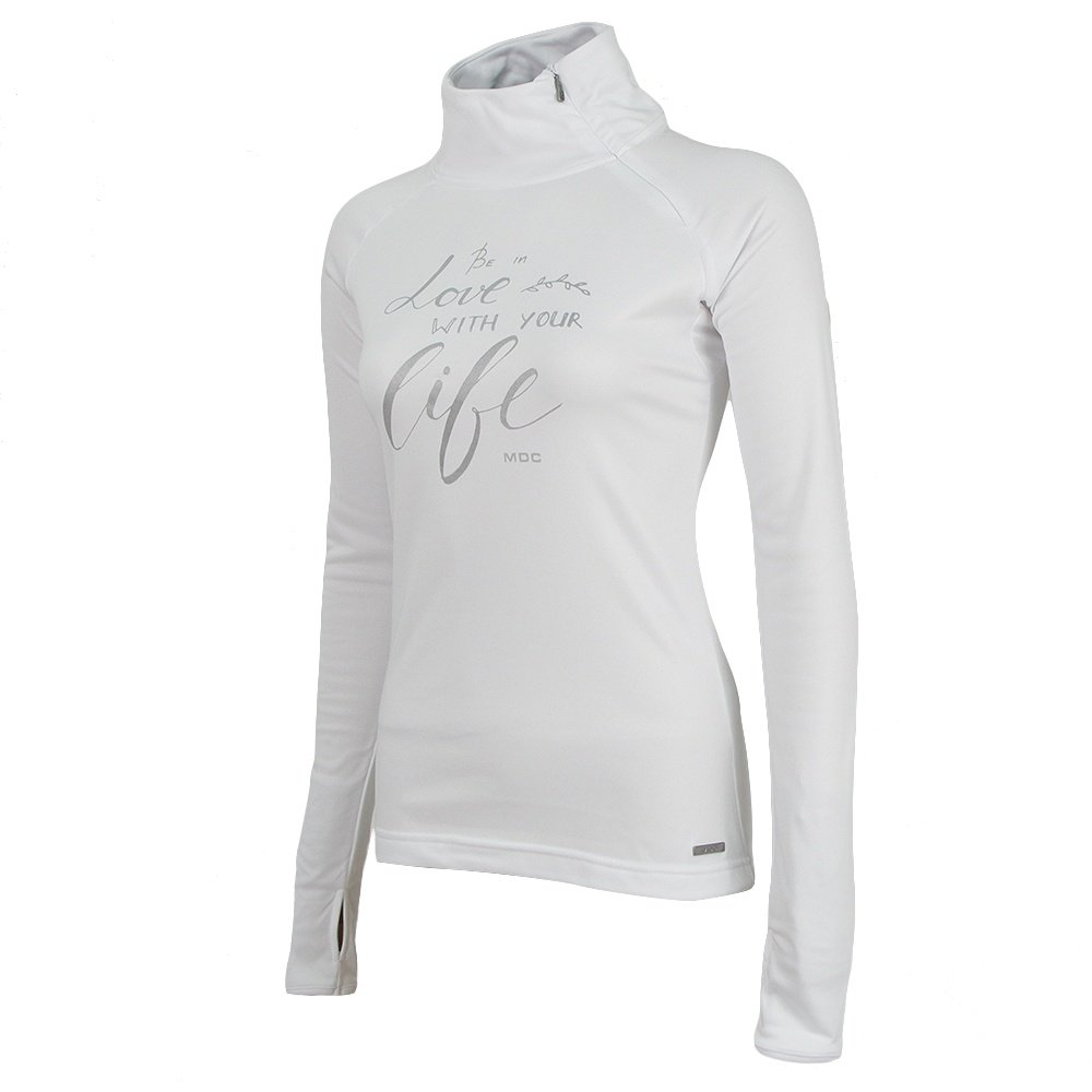 MDC Life Turtleneck Mid-Layer (Women's) - White/Silver