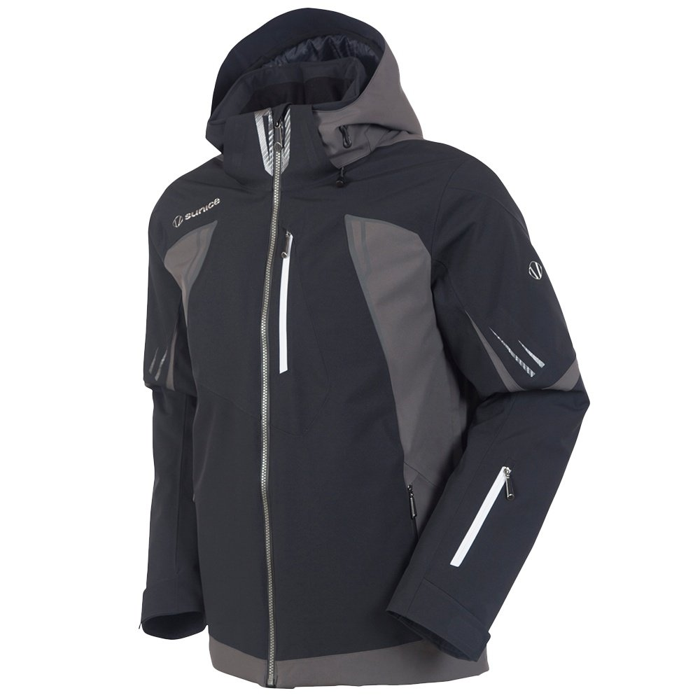 Sunice Edge Ski Jacket (Men's) - Black/Carbon