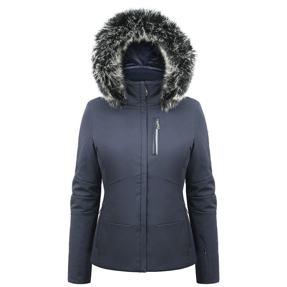 Poivre Blanc Stretch Ski Jacket with Faux Fur (Women's) - Gothic Blue