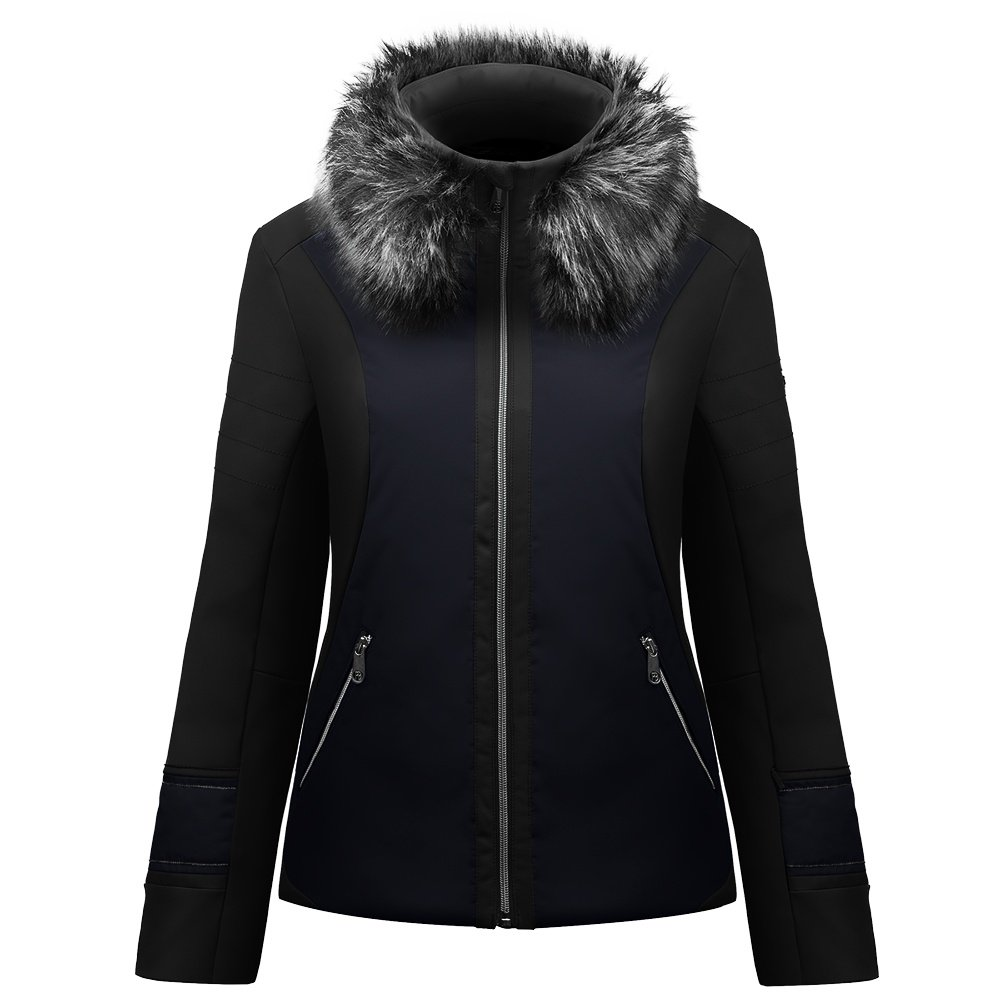 Poivre Blanc Ski Softshell Jacket (Women's) - Black/Gothic Blue
