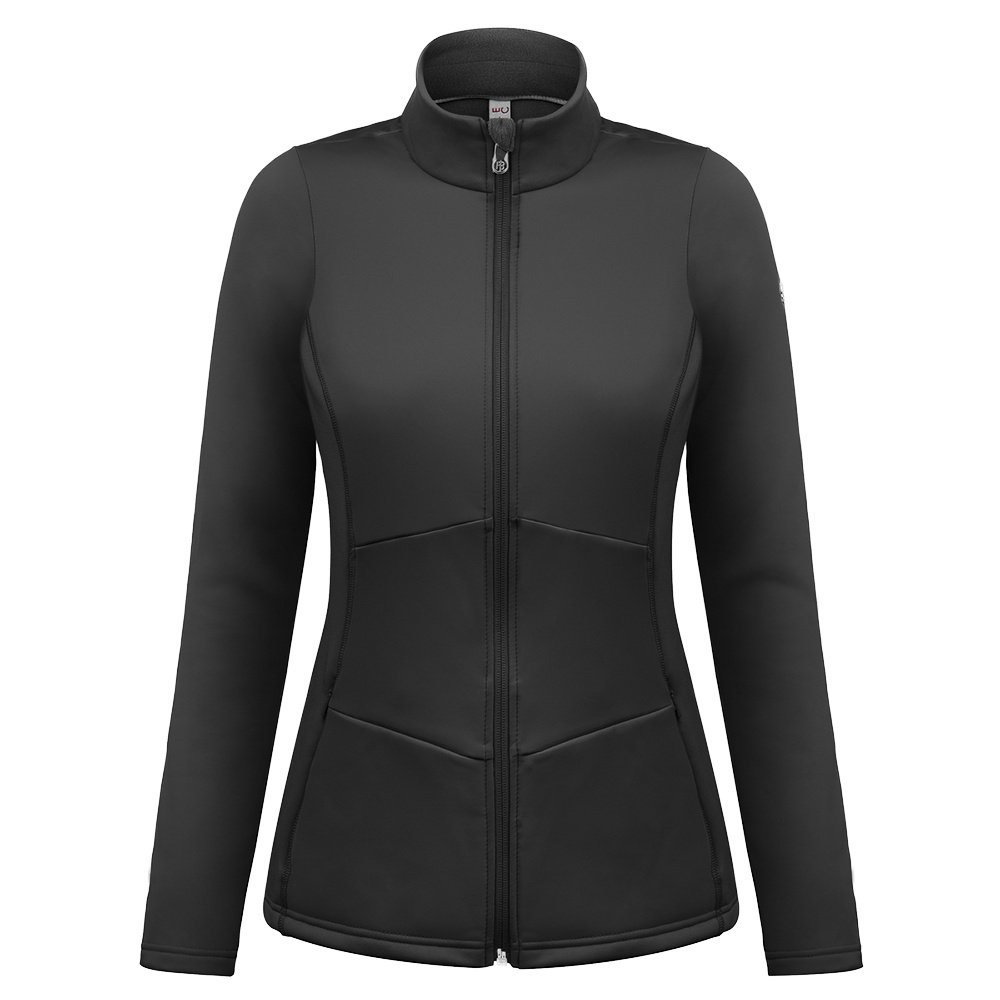 Poivre Blanc Stretch Fleece Full Zip Mid-Layer (Women's) - Black