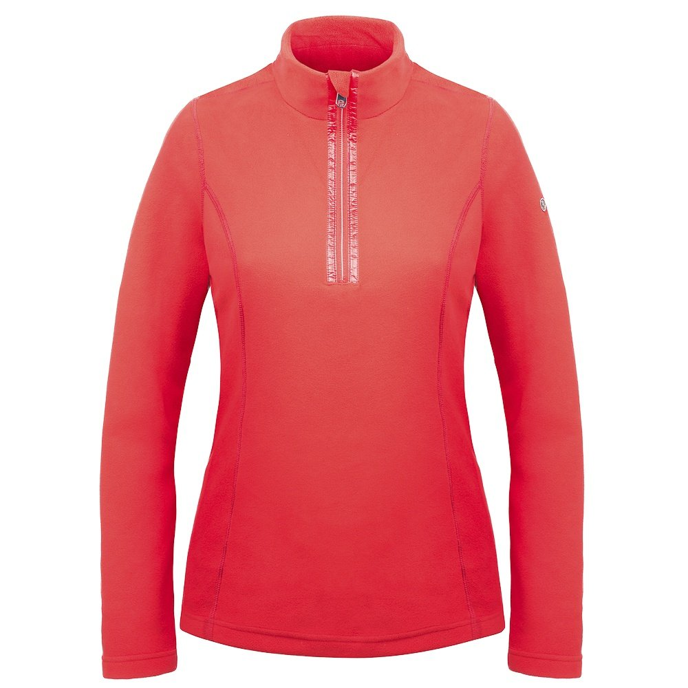 Poivre Blanc Micro Fleece 1/4 Zip Mid-Layer (Women's) - Scarlet Red