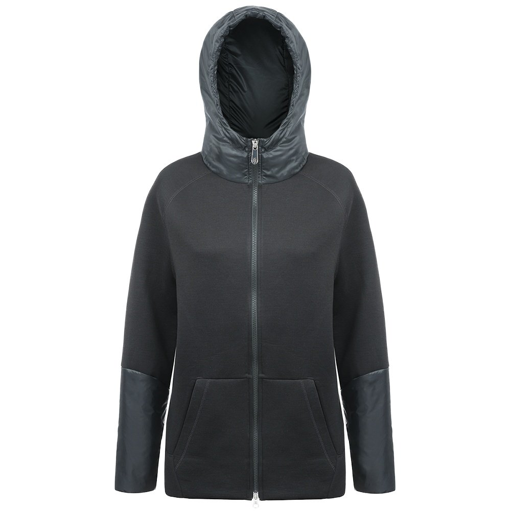 Poivre Blanc Stretch Fleece Hoodie Jacket (Women's) - Black