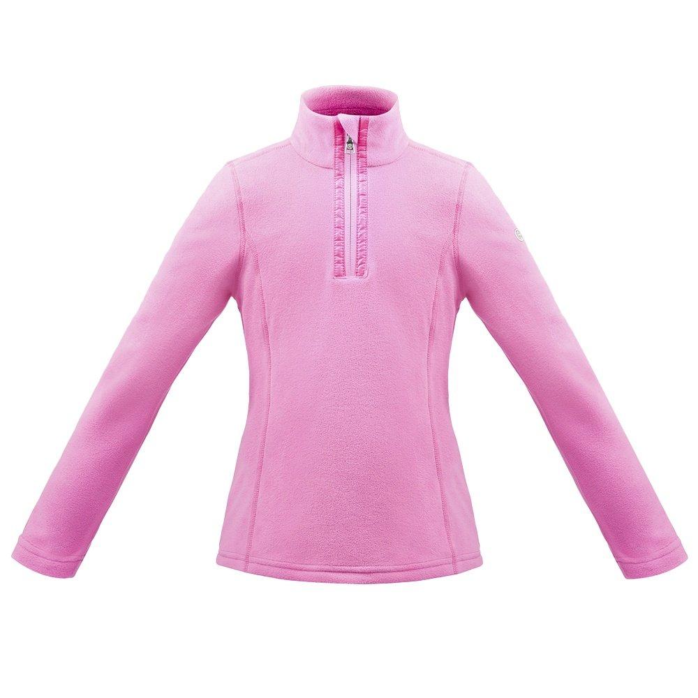 Poivre Blanc Microfleece 1/4 Zip Mid-Layer (Girls') - Candy Pink