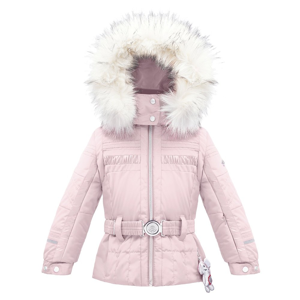 Poivre Blanc Ski Jacket with Faux Fur (Little Girls') - Angel Pink