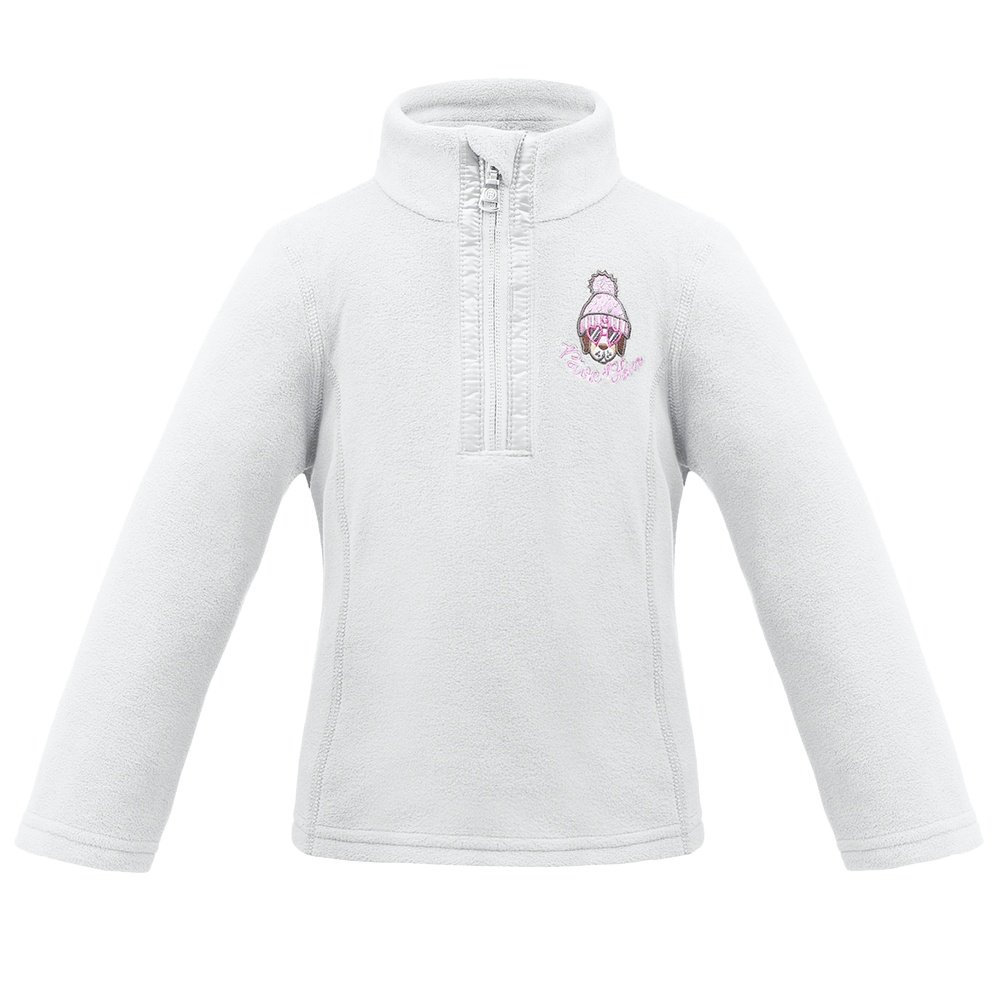 Poivre Blanc Microfleece 1/4 Zip Mid-Layer (Little Girls') - White