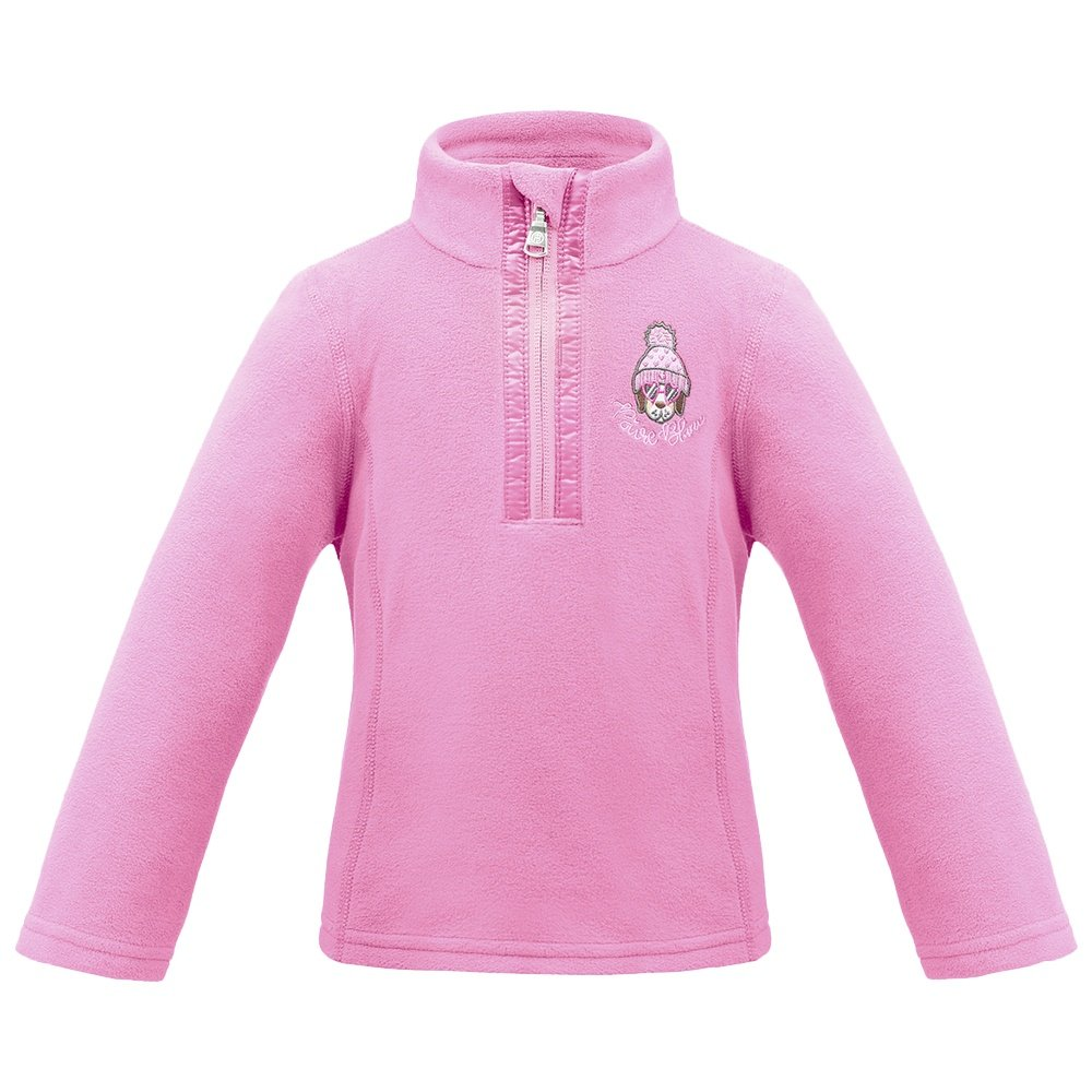 Poivre Blanc Microfleece 1/4 Zip Mid-Layer (Little Girls') - Candy Pink