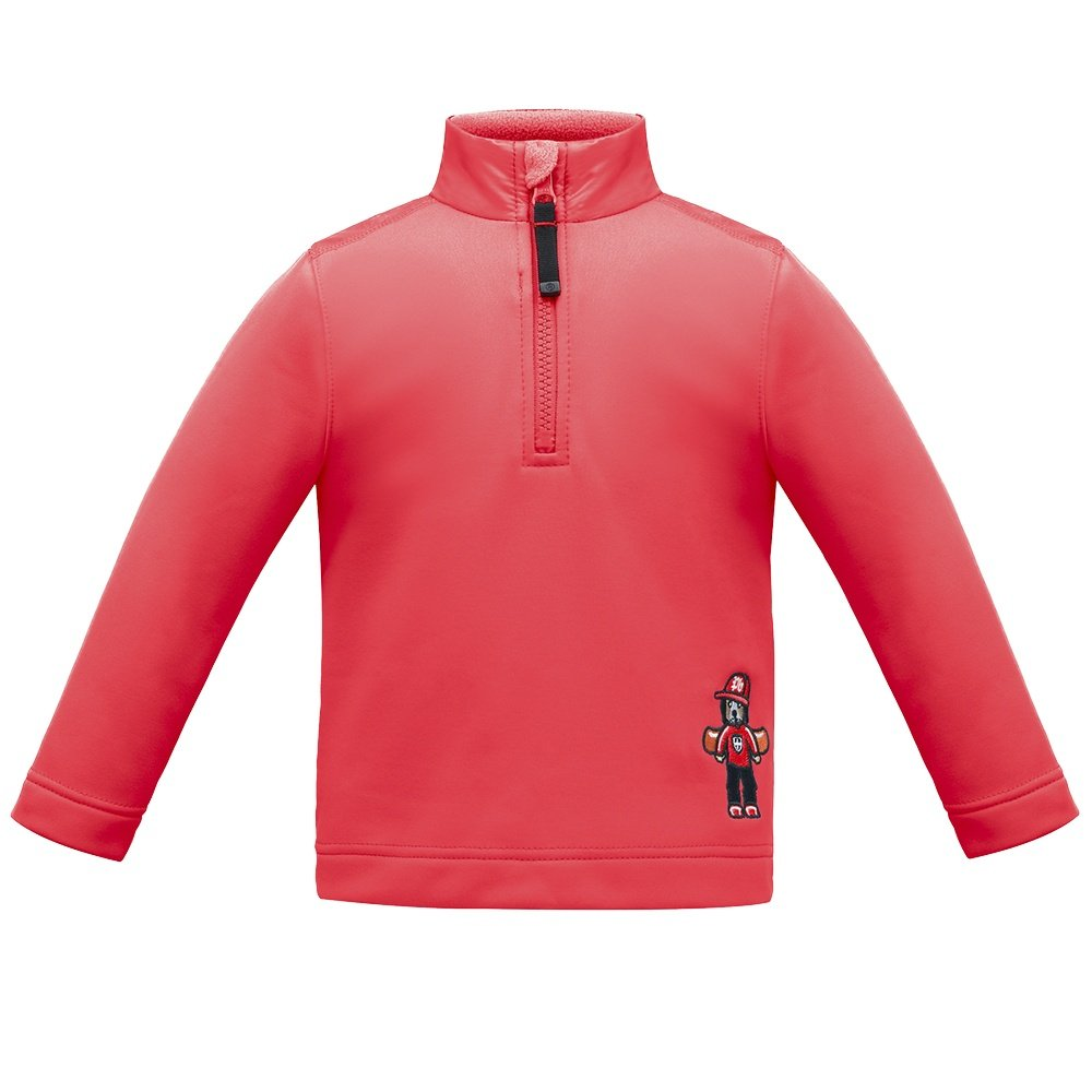 Poivre Blanc Board Dog Fleece 1/4 Zip Mid-Layer (Little Boys') - Scarlet Red