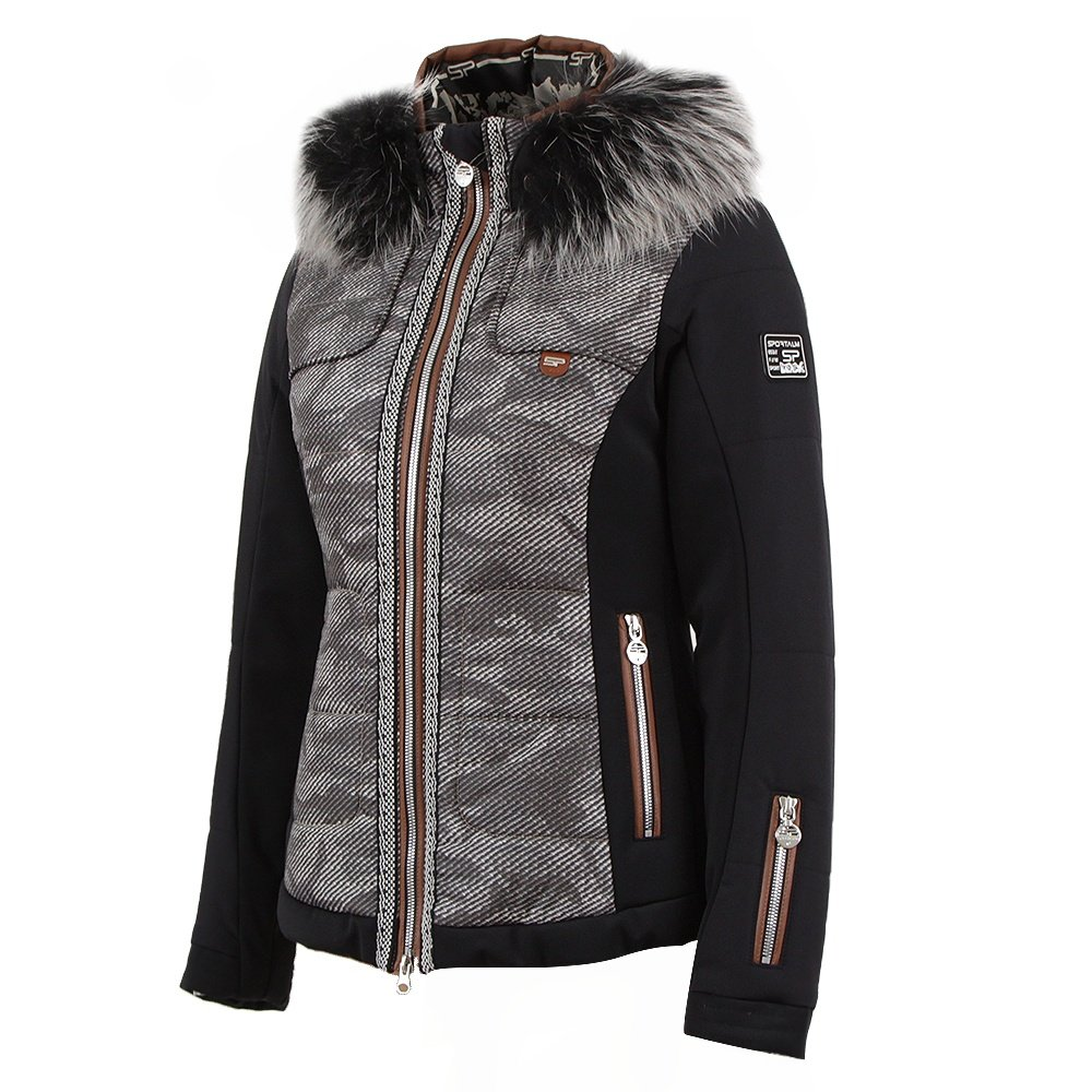 Sportalm Vail Insulated Ski Jacket with Fur (Women's) - Black