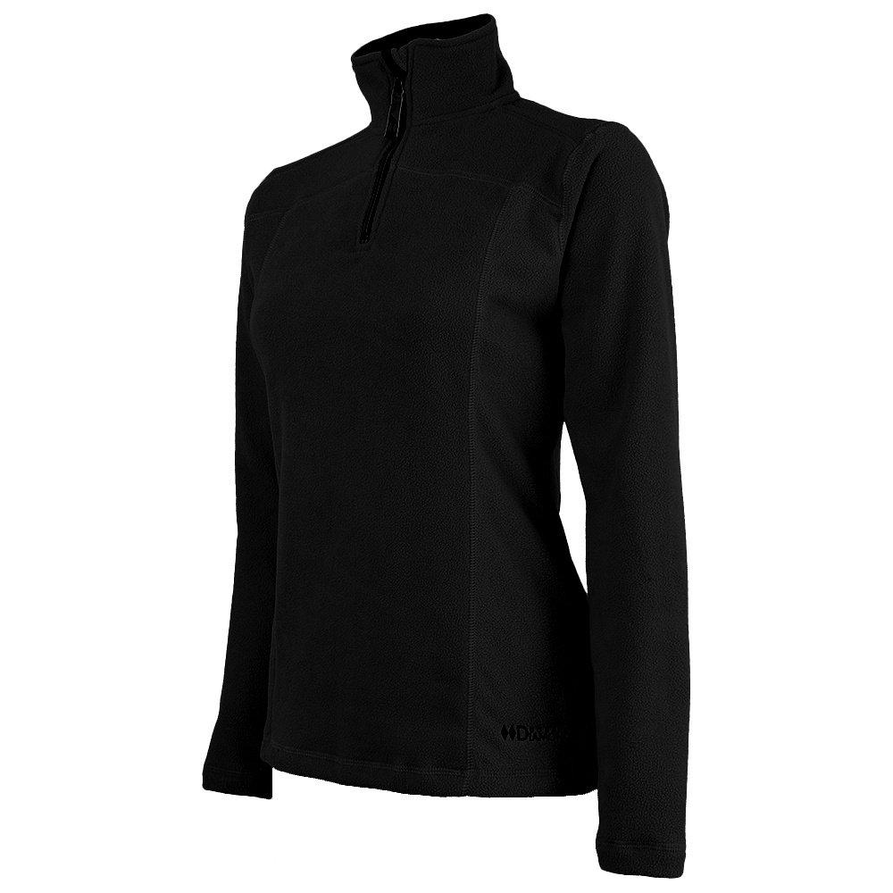 Double Diamond Waterbury Half Zip Microfleece Mid-Layer (Women's) - Black/Black